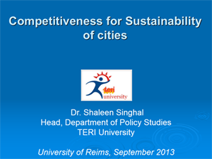 Présentation pdf – City Competitiveness For Sustainability